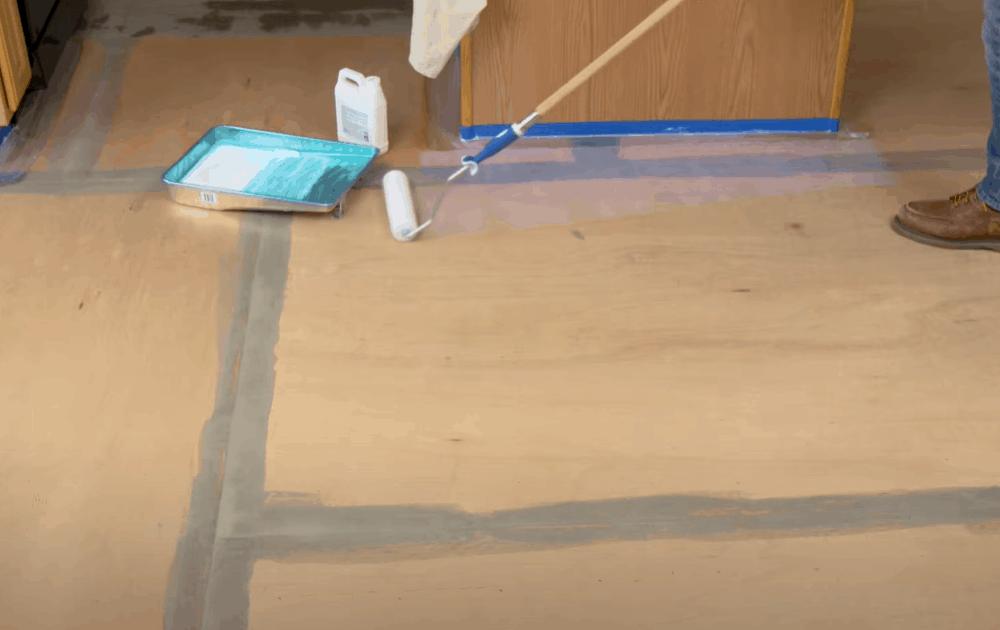 Apply the vinyl flooring adhesive