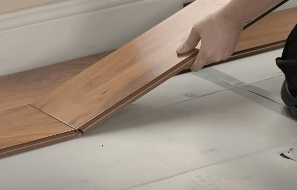 Install second-row planks