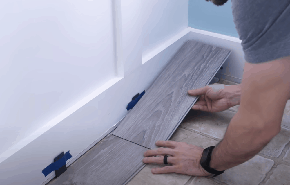 Install the final plank in the row