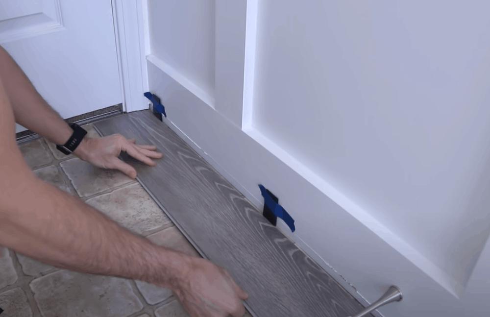 Lay the vinyl plank flooring