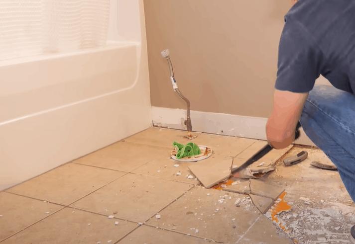 Remove existing flooring