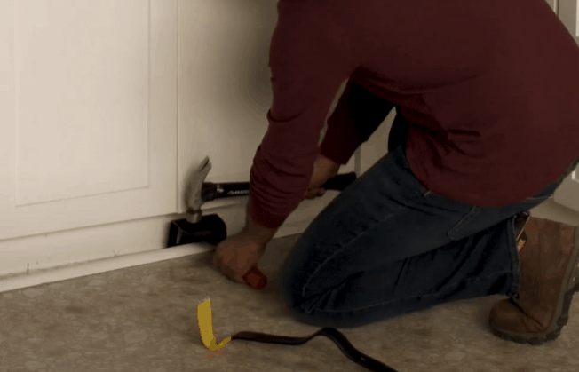 Remove the baseboards from your walls