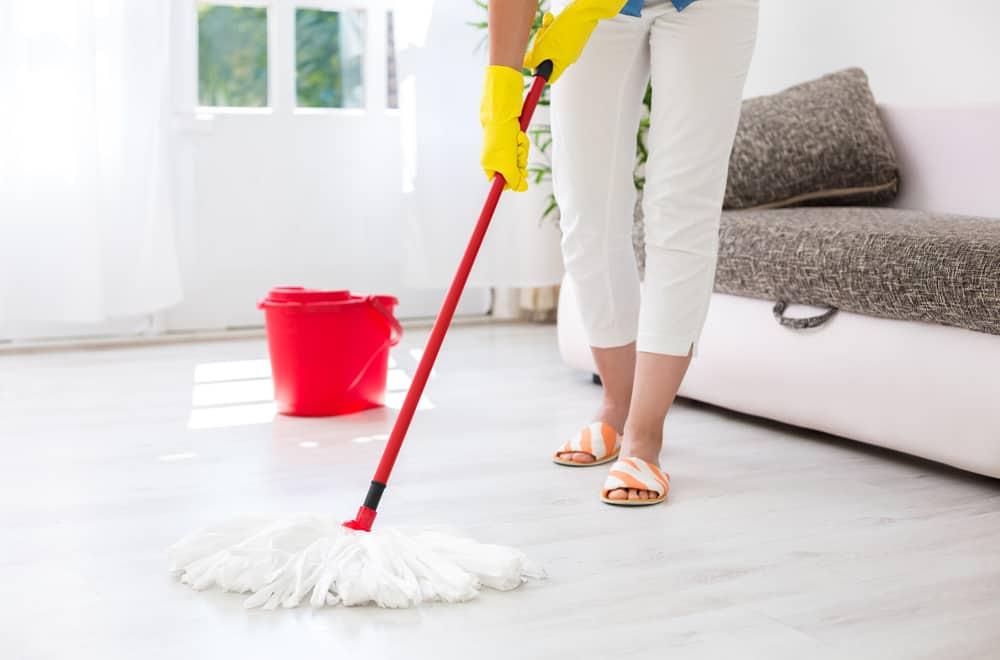 Rinse your floor