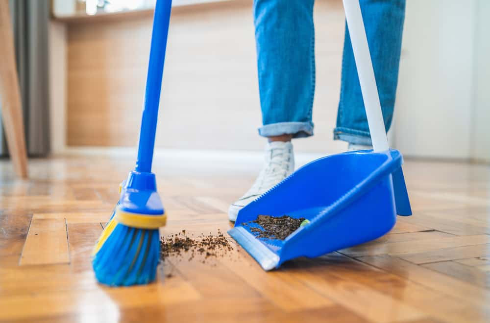 Sweep before you mop
