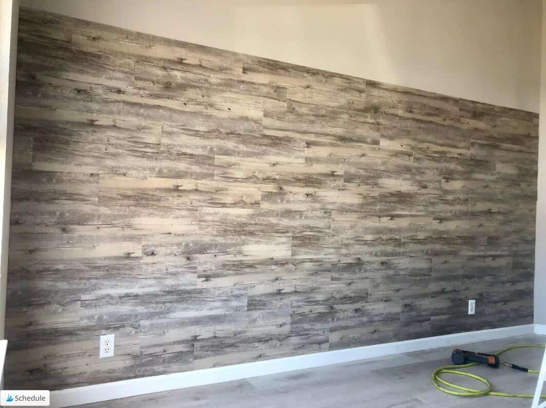 how to Install Vinyl Plank Flooring on Wall (2)
