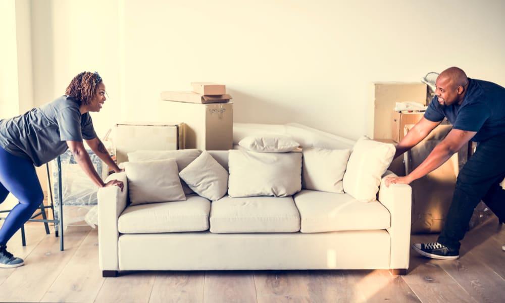 Avoid dragging appliances and heavy furniture across vinyl floors.