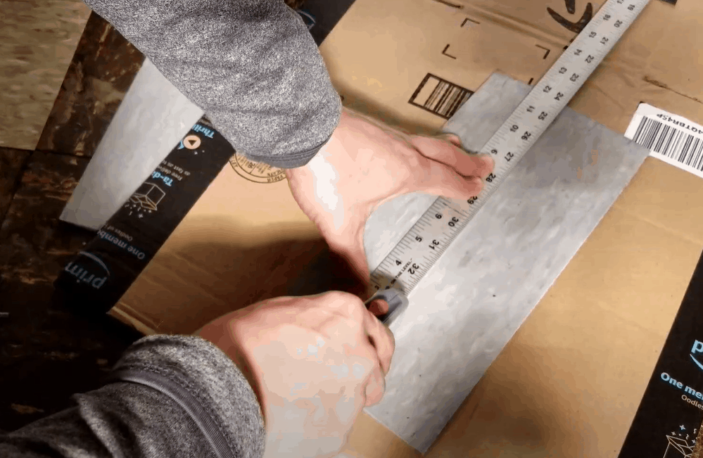 Use Your Utility Knife to Score the Tile