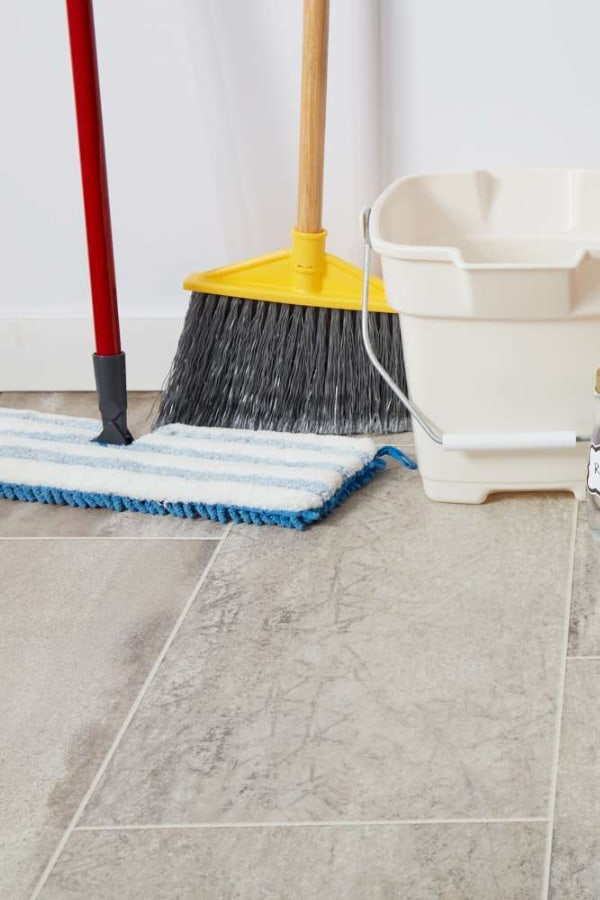 Clean the floor and prepare it for sealing