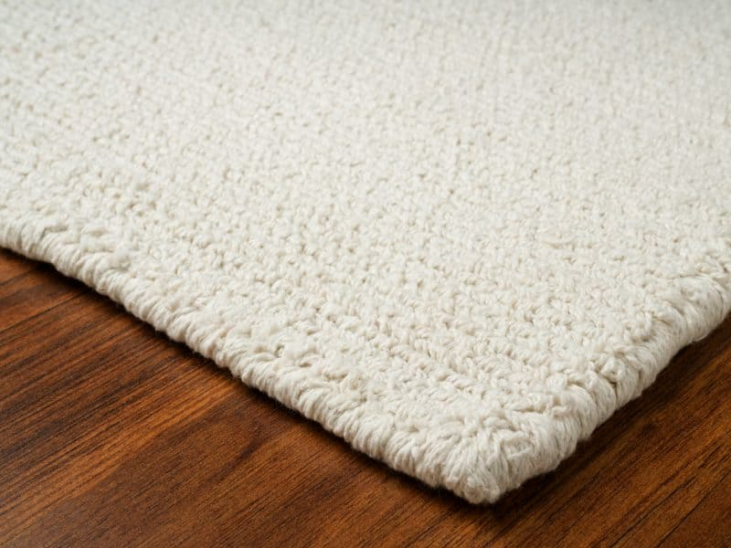 Cotton-backed rugs
