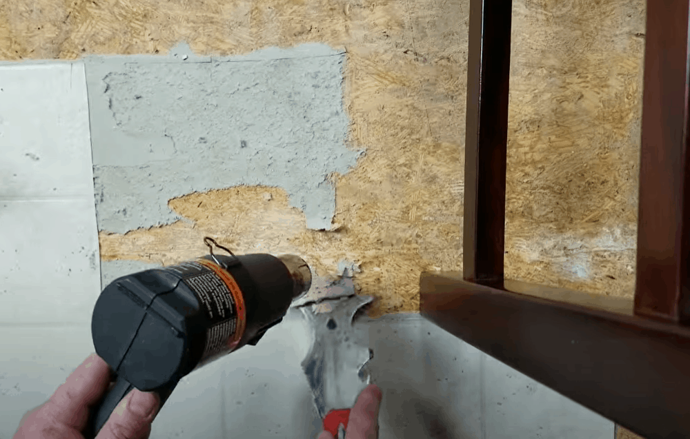 Heat the Leftover Adhesive