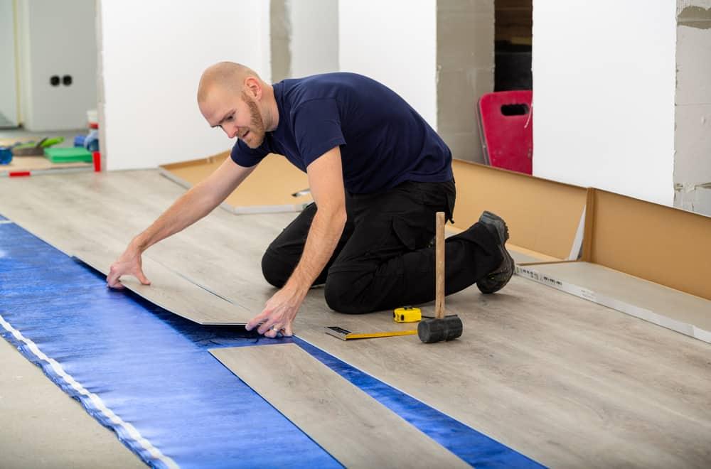 How to lay vinyl using underlayment