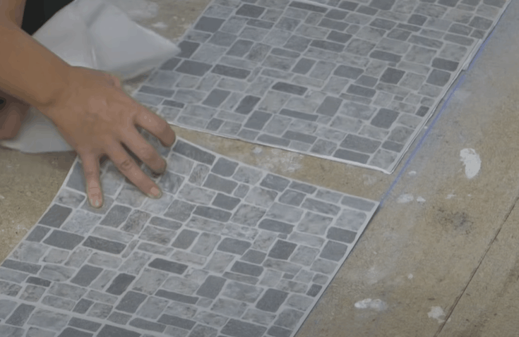 Install the tiles