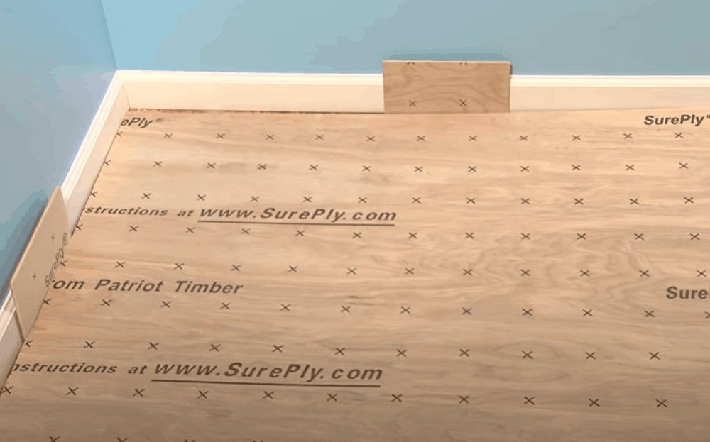 Install the underlayment