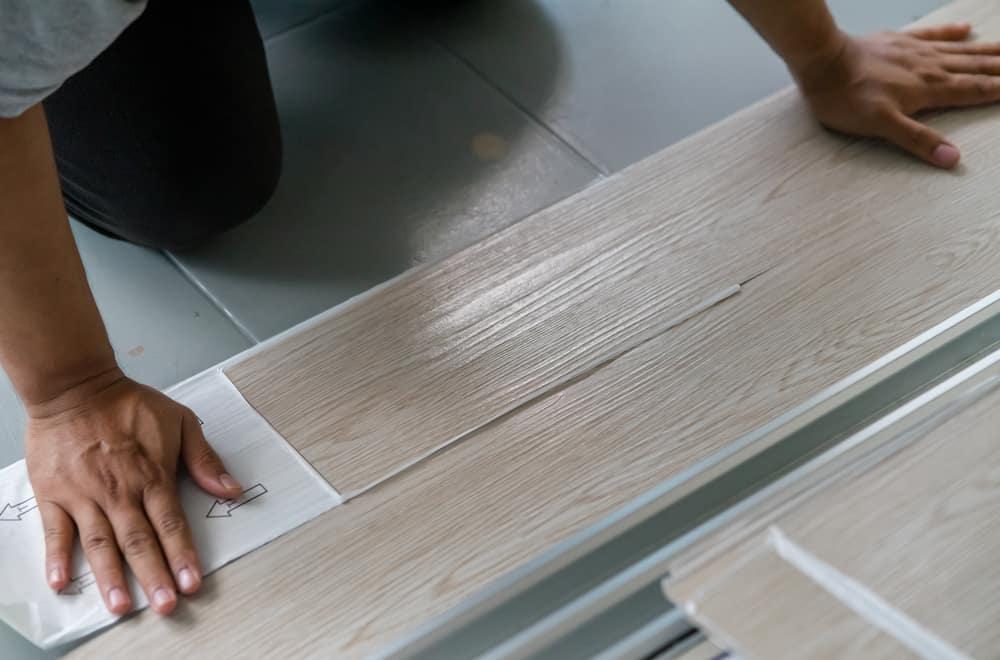 Laying vinyl directly on vinyl – installing the new vinyl floor