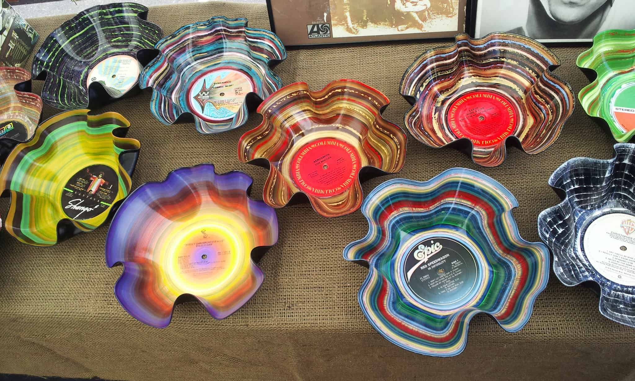 Psychedelic Record Bowls