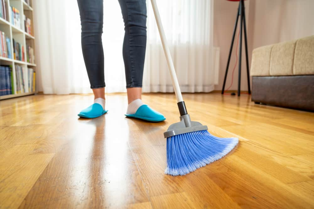 Use a doormat and sweep frequently