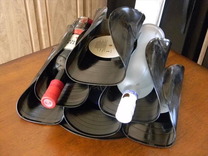 Vinyl Wine Holder
