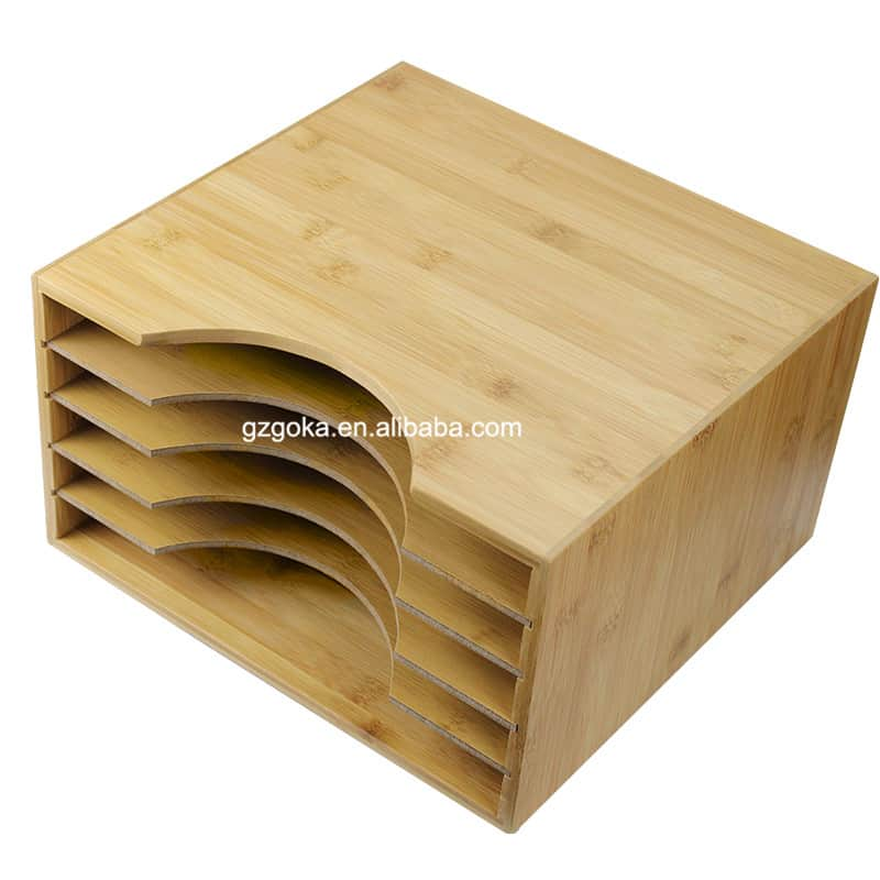 Bamboo Vinyl Record Shelf