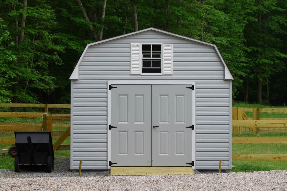 Metal shed siding