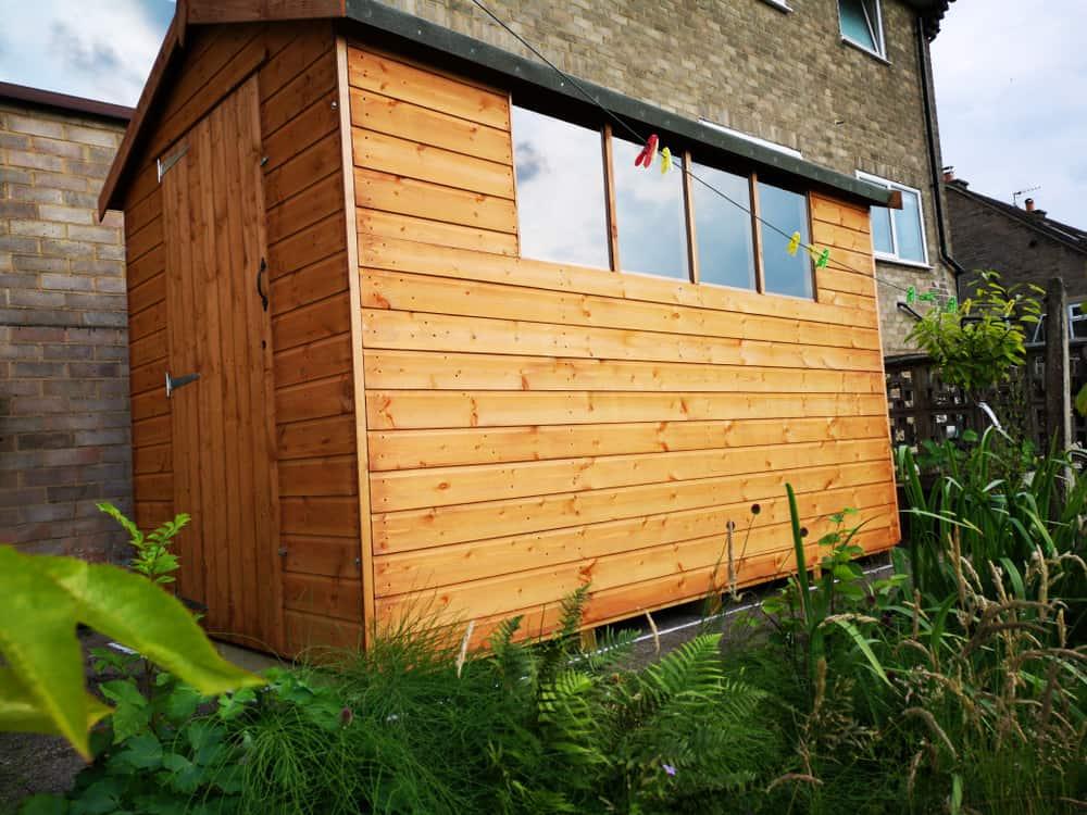 Natural Wood shed siding